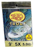 RIO Trout Knotless Leaders, 9' 3 Pack